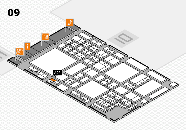 glasstec 2016 Hallenplan (Halle 9): Stand A23