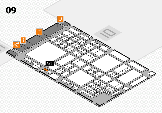 glasstec 2016 hall map (Hall 9): stand A23