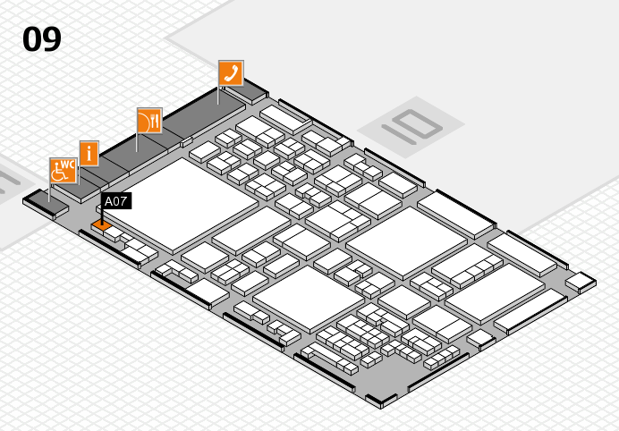 glasstec 2016 hall map (Hall 9): stand A07