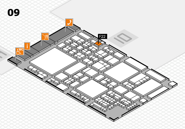 glasstec 2016 hall map (Hall 9): stand F22