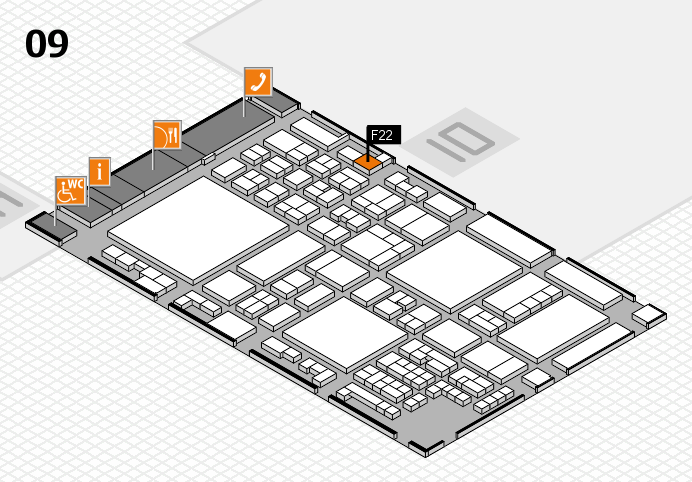 glasstec 2016 hall map (Hall 9): stand F22