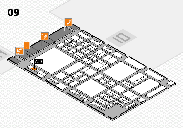 glasstec 2016 hall map (Hall 9): stand A09