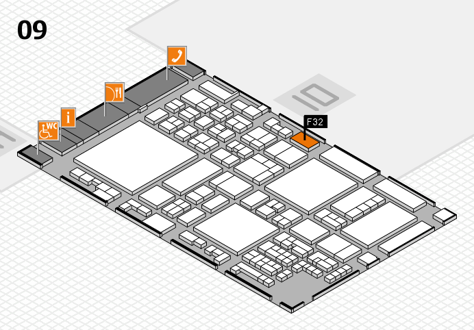 glasstec 2016 hall map (Hall 9): stand F32