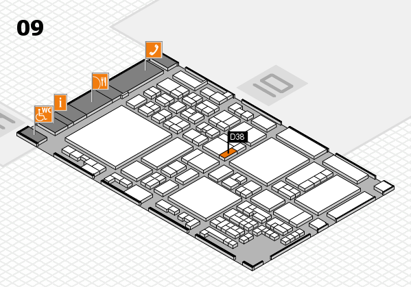 glasstec 2016 hall map (Hall 9): stand D38