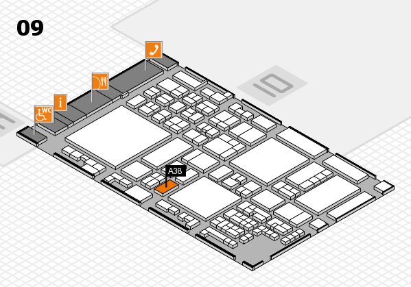 glasstec 2016 hall map (Hall 9): stand A38