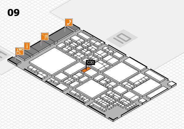 glasstec 2016 hall map (Hall 9): stand C30