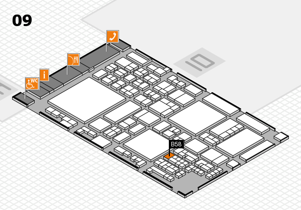 glasstec 2016 hall map (Hall 9): stand B58