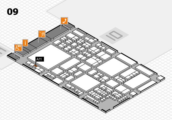 glasstec 2016 hall map (Hall 9): stand A11