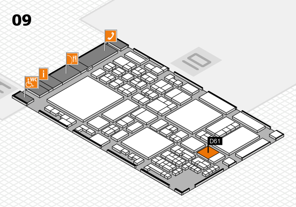 glasstec 2016 hall map (Hall 9): stand D61