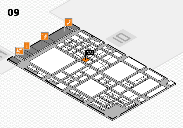 glasstec 2016 hall map (Hall 9): stand D24