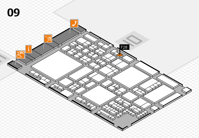 glasstec 2016 hall map (Hall 9): stand F28
