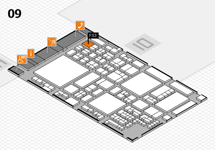 glasstec 2016 Hallenplan (Halle 9): Stand F03