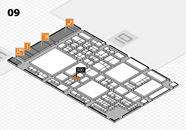 glasstec 2016 hall map (Hall 9): stand B30
