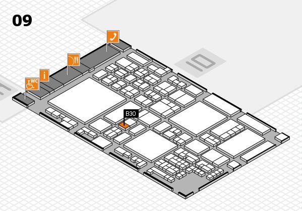 glasstec 2016 Hallenplan (Halle 9): Stand B30