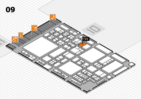 glasstec 2016 hall map (Hall 9): stand F29