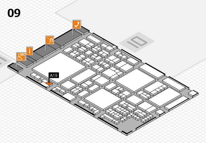 glasstec 2016 hall map (Hall 9): stand A19