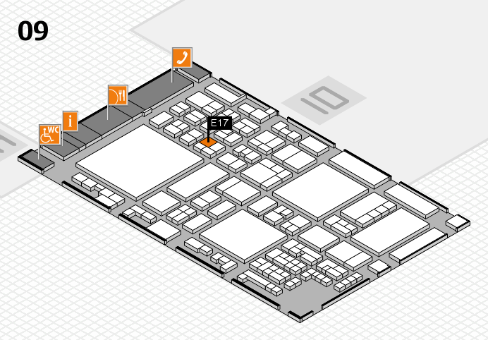 glasstec 2016 hall map (Hall 9): stand E17