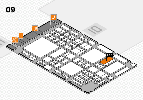 glasstec 2016 hall map (Hall 9): stand F57
