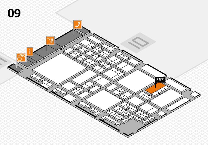 glasstec 2016 hall map (Hall 9): stand F57