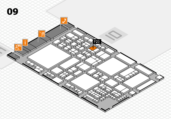glasstec 2016 hall map (Hall 9): stand F23
