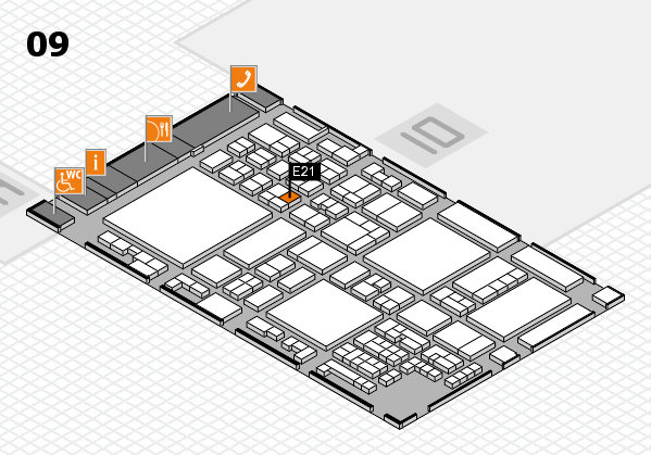glasstec 2016 hall map (Hall 9): stand E21