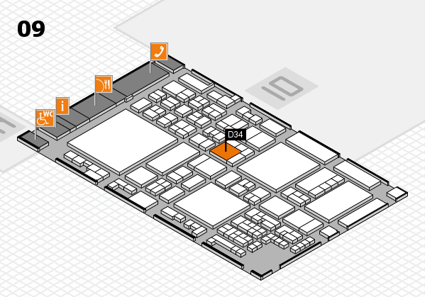 glasstec 2016 hall map (Hall 9): stand D34
