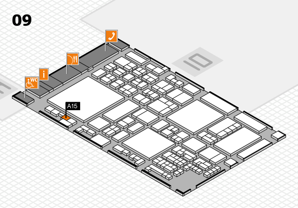 glasstec 2016 hall map (Hall 9): stand A15