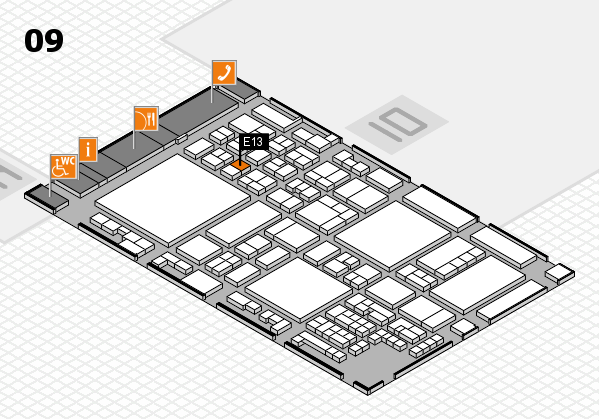 glasstec 2016 hall map (Hall 9): stand E13