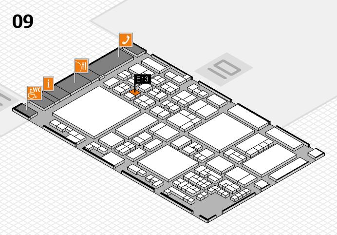 glasstec 2016 hall map (Hall 9): stand E13