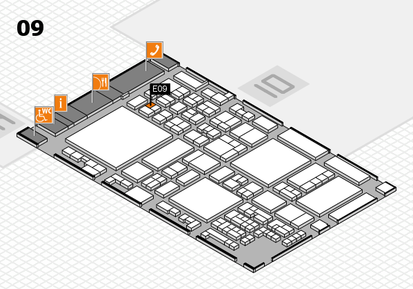 glasstec 2016 hall map (Hall 9): stand E09