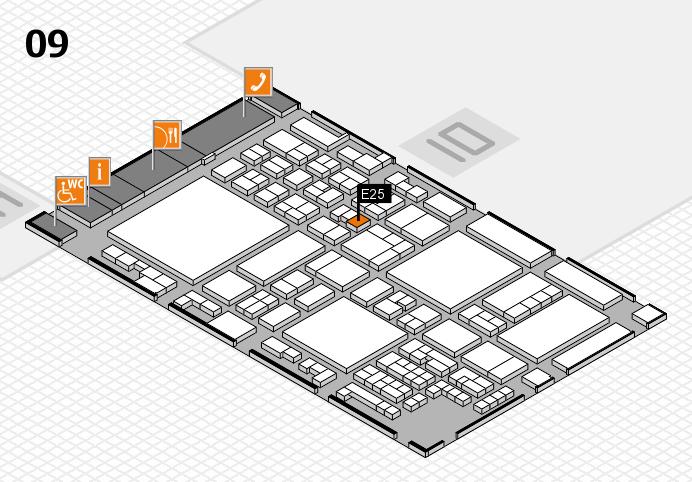 glasstec 2016 hall map (Hall 9): stand E25