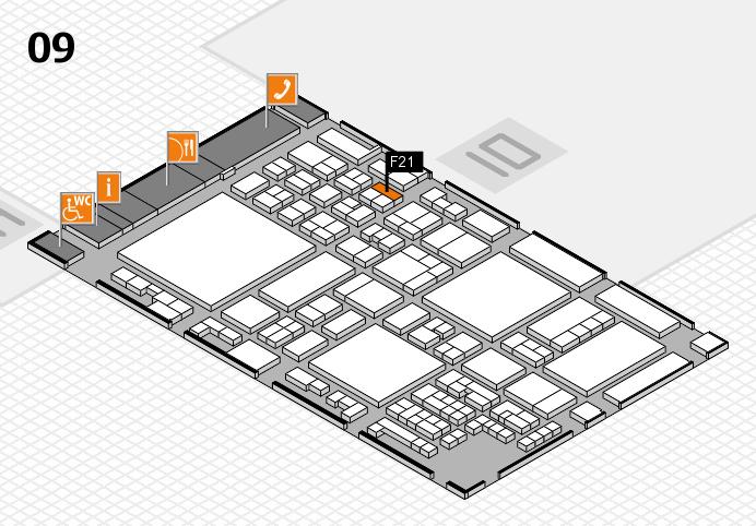 glasstec 2016 hall map (Hall 9): stand F21