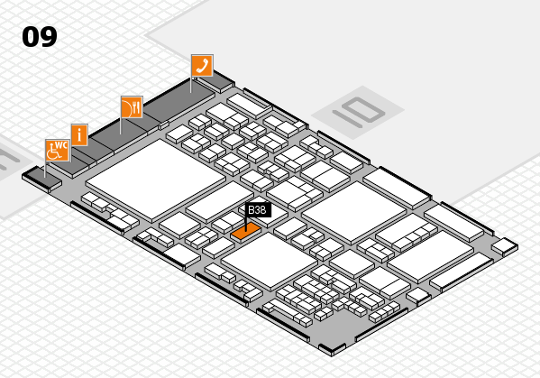 glasstec 2016 hall map (Hall 9): stand B38