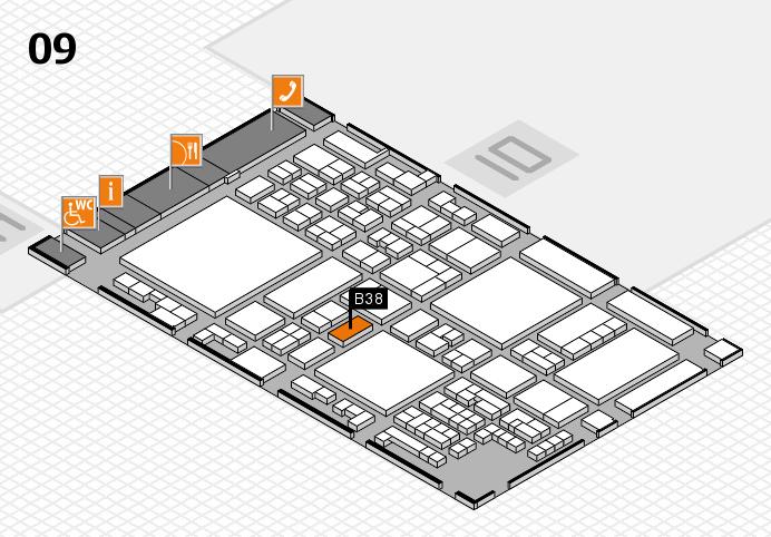 glasstec 2016 hall map (Hall 9): stand B38