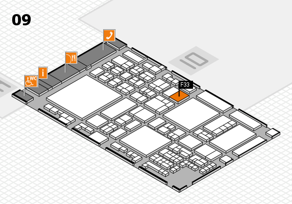 glasstec 2016 hall map (Hall 9): stand F33