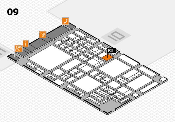 glasstec 2016 Hallenplan (Halle 9): Stand F33