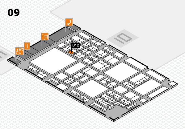 glasstec 2016 hall map (Hall 9): stand D12