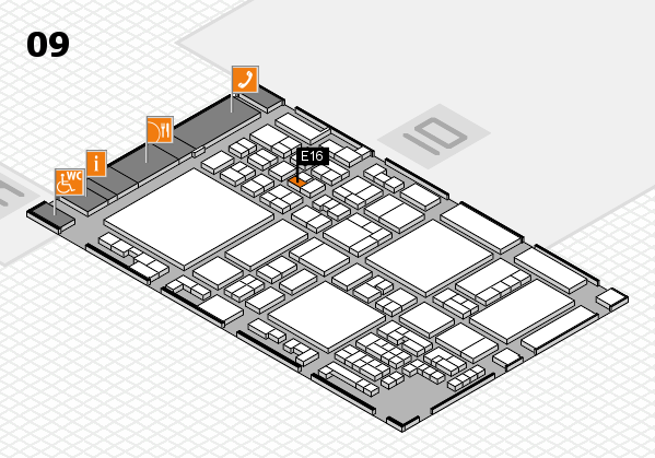 glasstec 2016 hall map (Hall 9): stand E16
