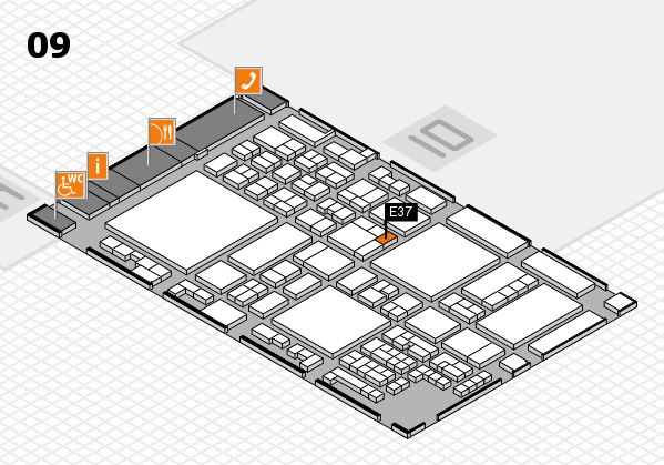 glasstec 2016 hall map (Hall 9): stand E37