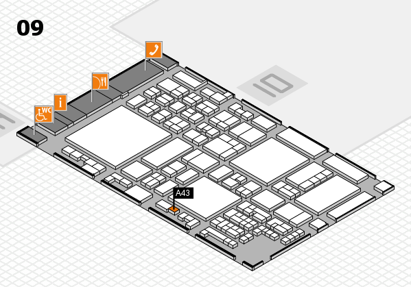 glasstec 2016 hall map (Hall 9): stand A43