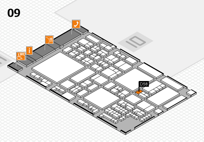 glasstec 2016 hall map (Hall 9): stand D58