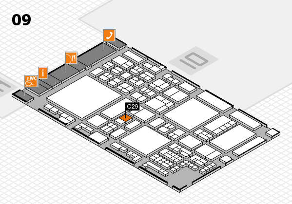 glasstec 2016 hall map (Hall 9): stand C29