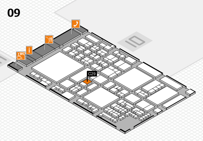 glasstec 2016 hall map (Hall 9): stand C29