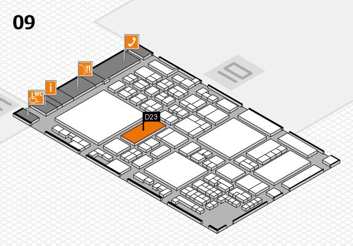 glasstec 2016 hall map (Hall 9): stand D23