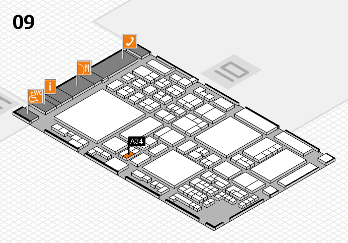 glasstec 2016 hall map (Hall 9): stand A34
