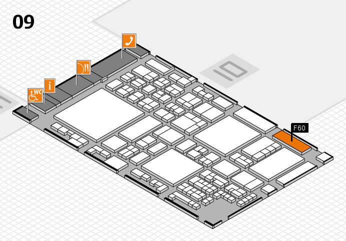 glasstec 2016 hall map (Hall 9): stand F60
