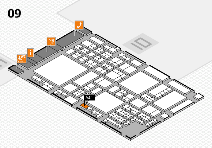 glasstec 2016 hall map (Hall 9): stand A41