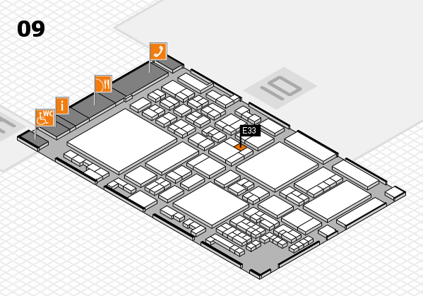 glasstec 2016 hall map (Hall 9): stand E33