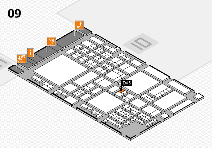 glasstec 2016 hall map (Hall 9): stand D45
