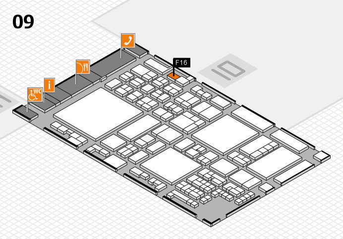 glasstec 2016 hall map (Hall 9): stand F16